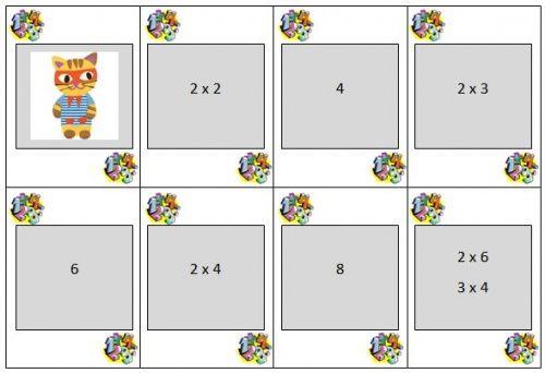 Jeu de mistigri pour apprendre les tables de for Methode ludique pour apprendre table multiplication