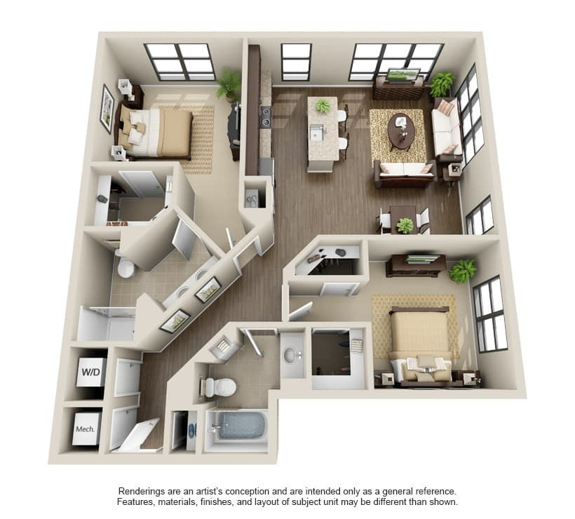 View The Julian At Fair Lakes Apartment Floor Plans