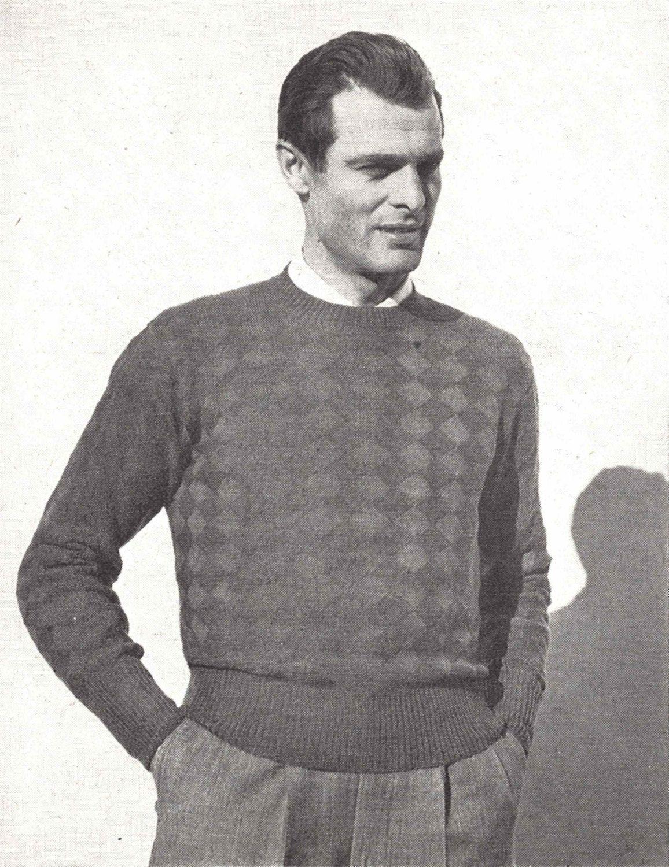 Diamond\'s Edge • 1940s Knitting Knit Sweater Pullover Jumper Top ...