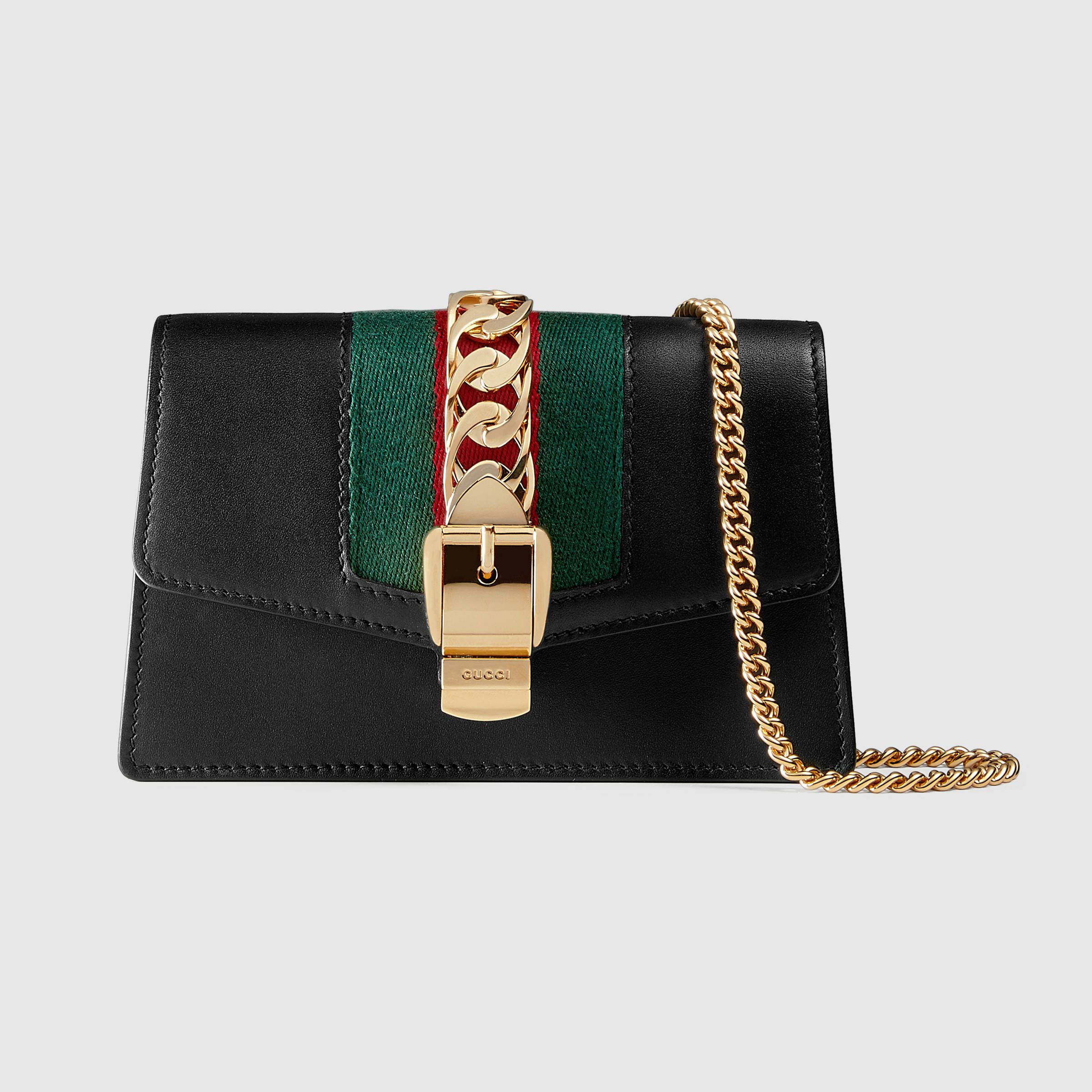 d02c11175b2 Sylvie leather mini chain bag - Gucci Women s Wallets   Small Accessories  494646CWLSG1060