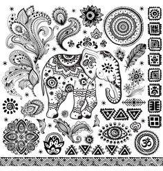 Elephant Tattoo Ethnic DesignBohemian