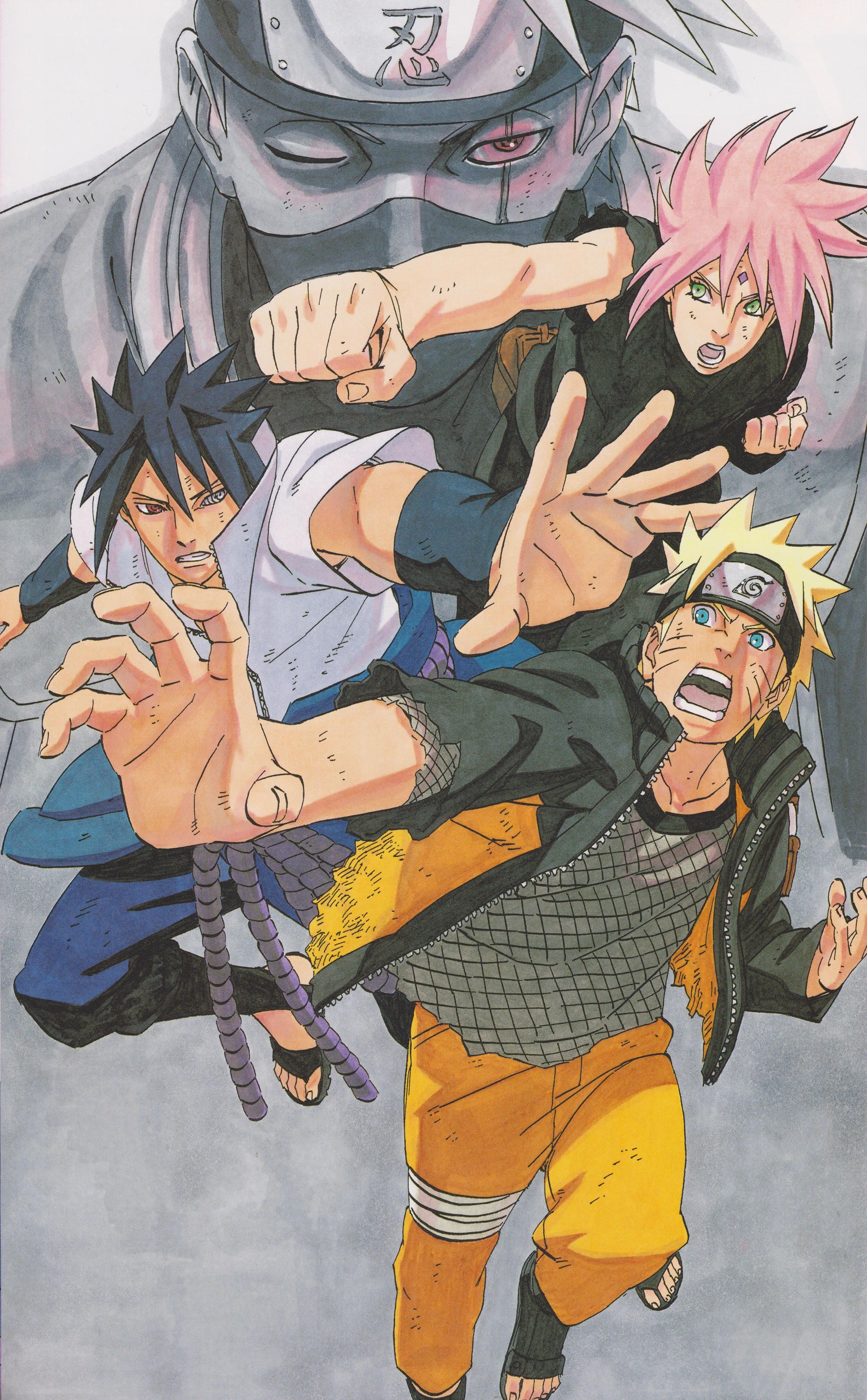 Naruto artbook team naruto and naruto team