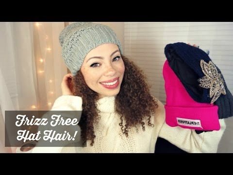e8839e1c2a6 DIY Satin Lined Beanies - Frizz Free Hat Hair! - YouTube
