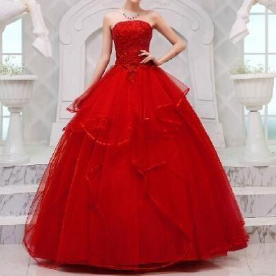 Belle robe de mariee rouge