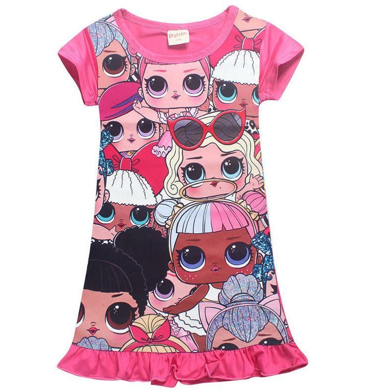 9d1458b36d1e  10.99 - Girls Pink L.O.L Lol Surprise Doll Dress Short Sleeve ...