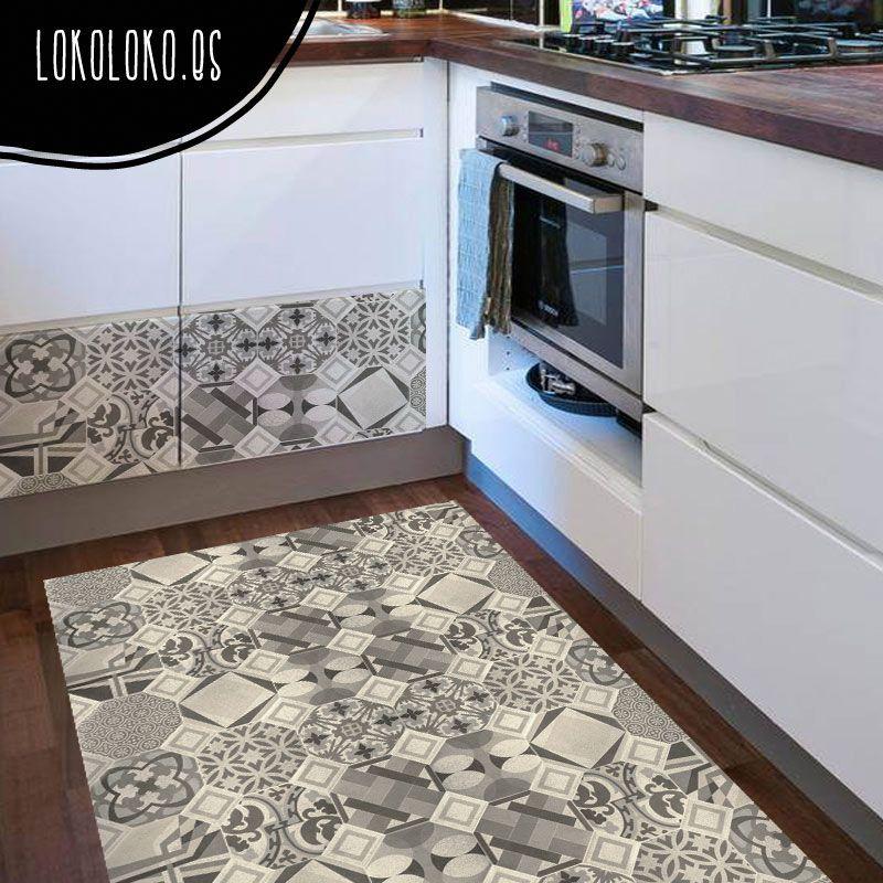 Decora tus suelos con vinilos de patrones cer micos - Suelo de ceramica ...