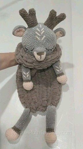 Crochet Deer PATTERN Amigurumi reindeer tutorial BIG deer, Toy 20 inch, Lovey animals pattern