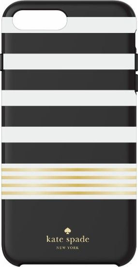 Best Buy Kate Spade New York Protective Hardshell Case For Apple Iphone 7 Plus White Gold Foil Stripe 2 Black Ksiph 056 Stbwg Black Phone Case Kate Spade Iphone Iphone 7 Plus