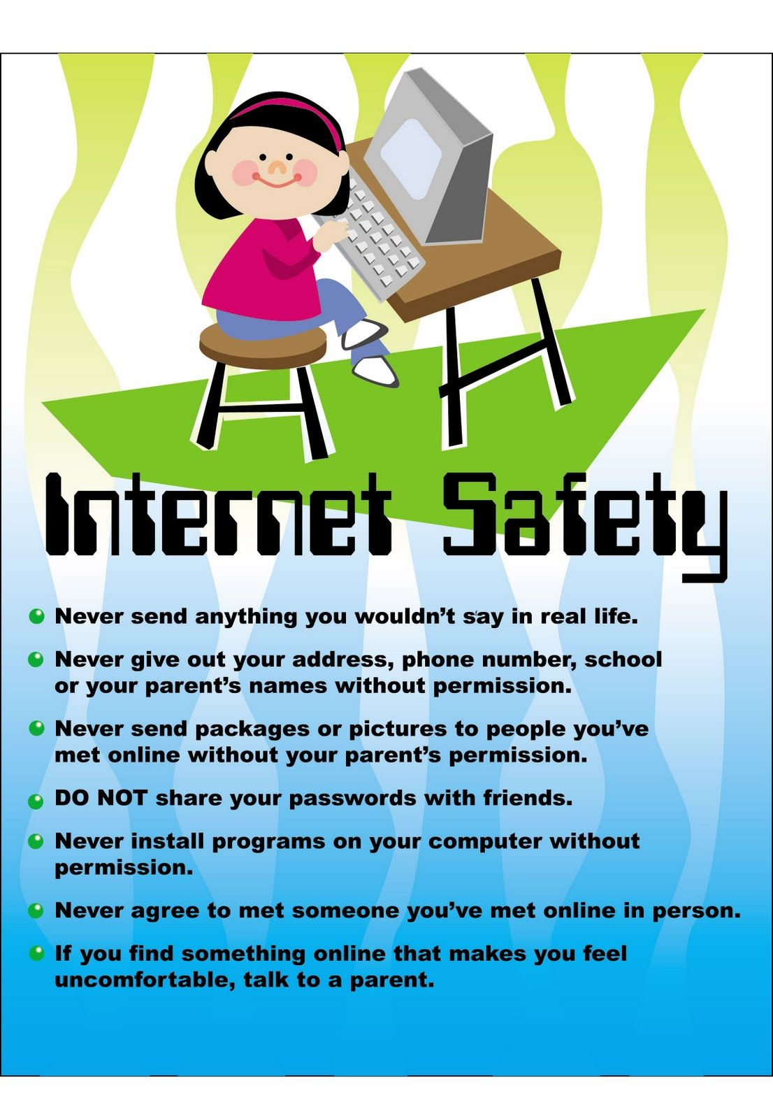 online safety tips Safety Posters Assertive