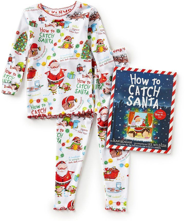 9665f5b79552 Books To Bed Little Girls 2T-7 Christmas How To Catch Santa Pajamas ...