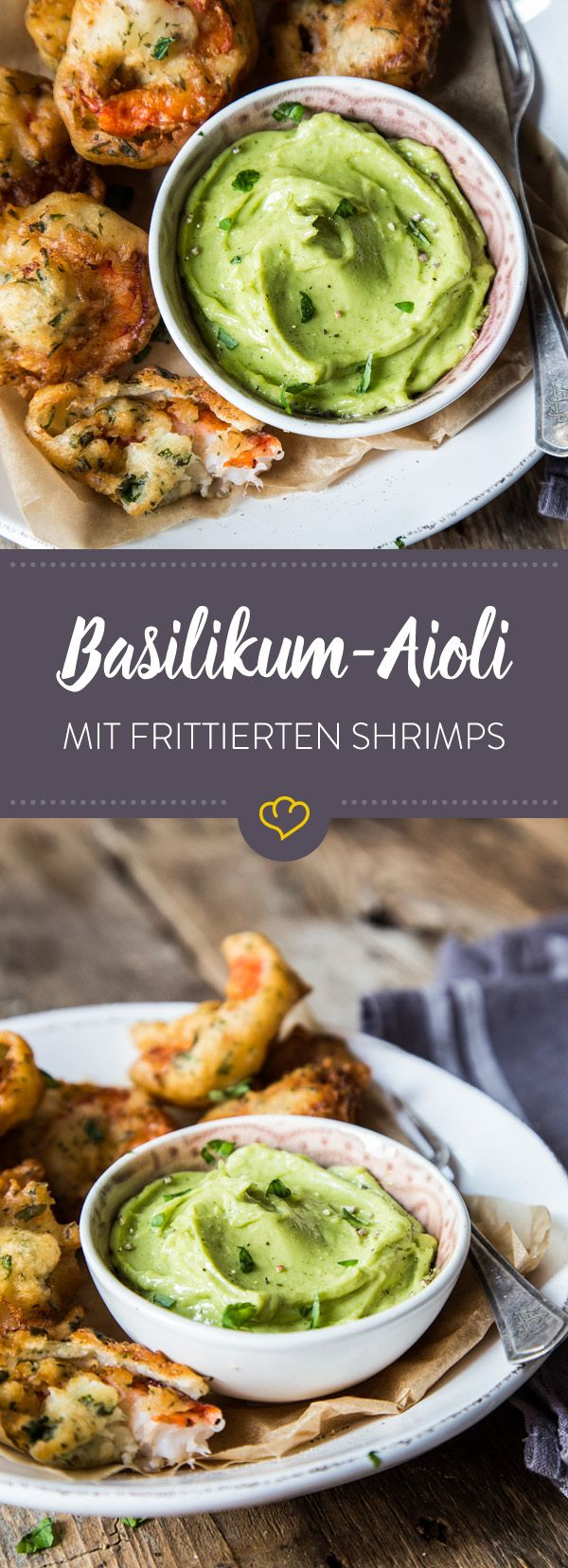 Photo of Basil aioli with fried shrimp