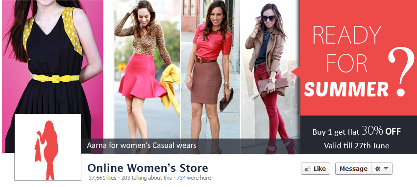 Facebook page features, online store, facebook cover photo ...