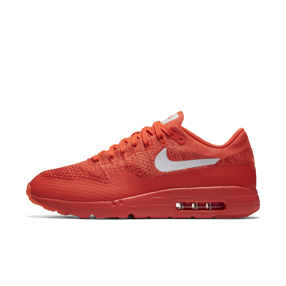 113ebb37034e0 Nike Air Max 1 Ultra Flyknit Men's Shoe Size 11 (Red) - Clearance Sale