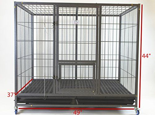Homey Pet 49 Extra Large Heavy Duty Metal Dog Cage W Plastic Floor