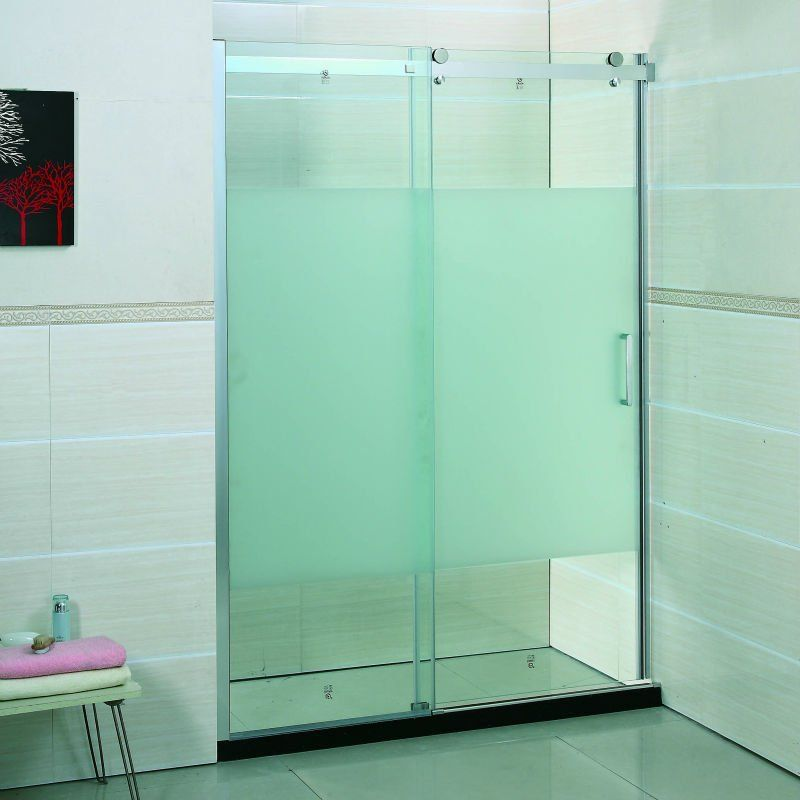 Frosted Glass Shower Doors partially frosted glass shower doors | bathroom | pinterest