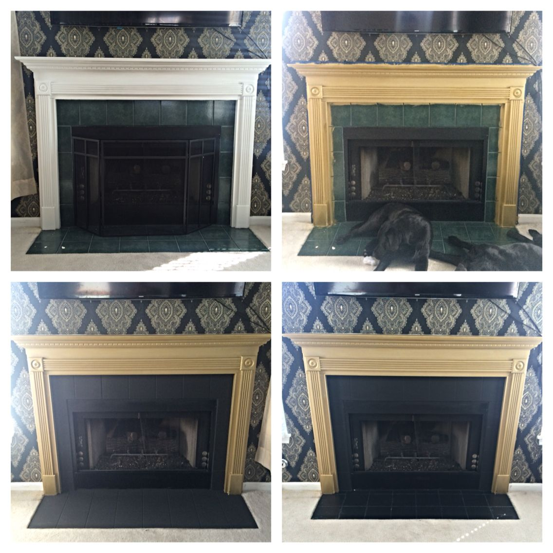 fireplace makeover outdated fireplace face lift diy refurbished