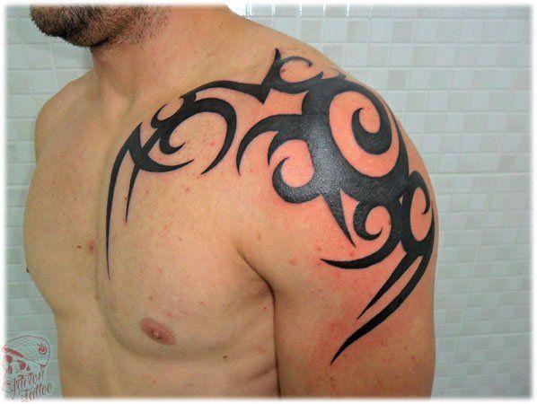 Tribal no ombro - Foto #1765 - Mundo das Tatuagens