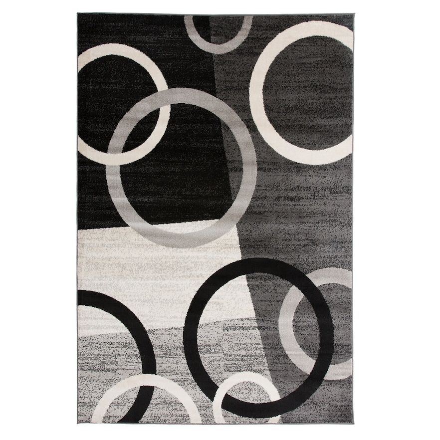 World Rug Gallery Toscana Modern Circles Shapes Rug Area Rugs Colorful Rugs Rugs