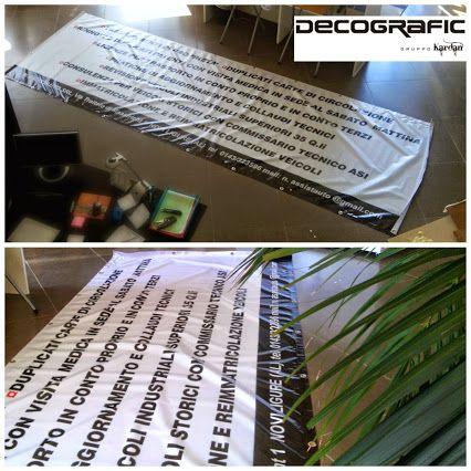 #banner occhiellato 4,5 x 1,5 metri con rinforzo perimetrale per il cliente Nuova Assistauto srl, #NoviLigure ( #Alessandria ). Per info e preventivi visita il nostro sito http://www.decografic.com/ #DecograficGenova #stampadigitale