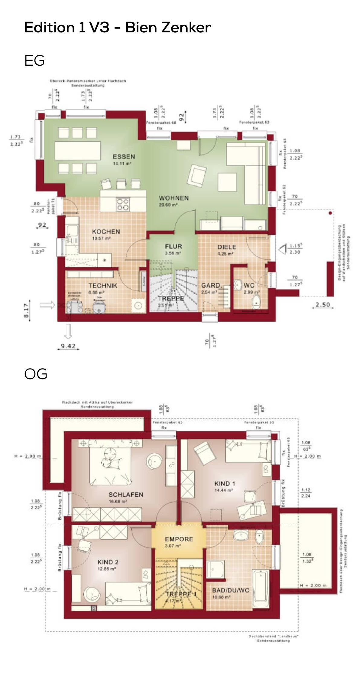 Großartig Grundriss Einfamilienhaus 150 Qm Galerie Von Modern Mit Satteldach - 4 Zimmer, 125
