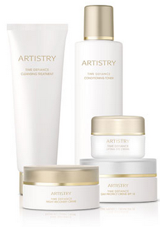 Don't just cover up time..DEFY IT!  The Time Defiance line of Artistry skin care and cosmetics.