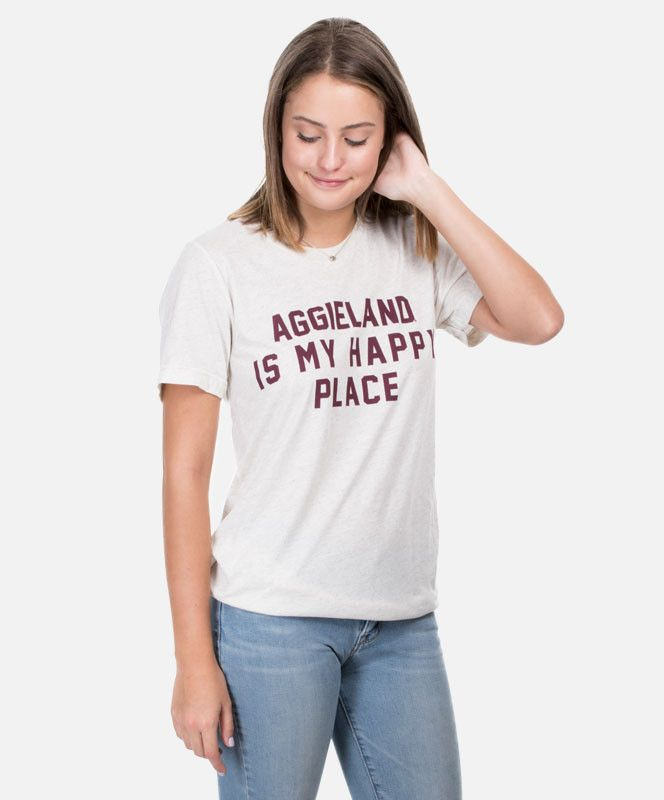 f4be2f2a464da6 Aggieland Is My Happy Place Graphic Tee