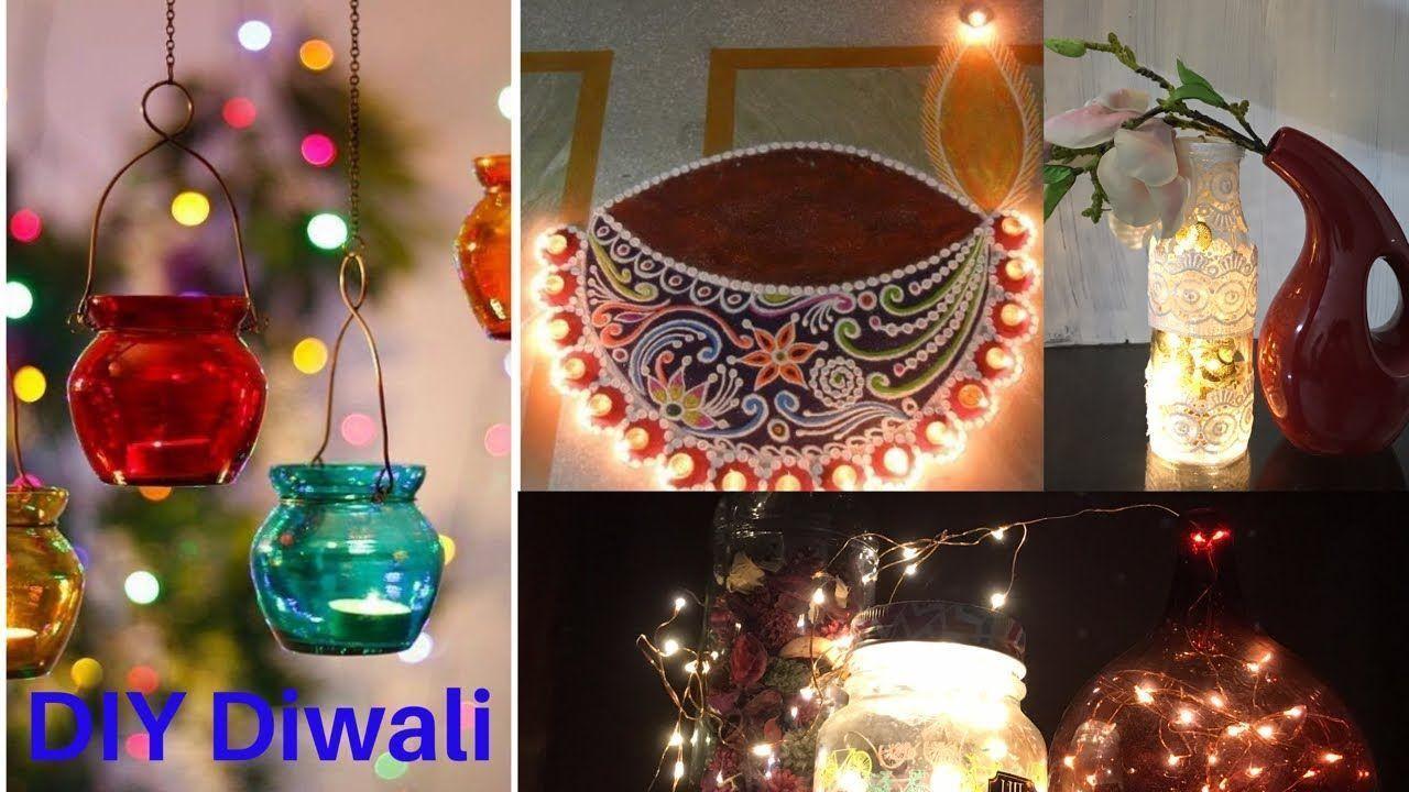 DIY Diwali Dekoration Ideen | schöne diya dekoration | diya Dekoration ... #diwalidecorations...