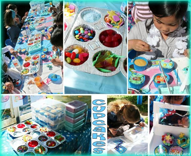 cupcake birthday party was that mermaid party amazing or what i have to give - Cupcake Decorating Party