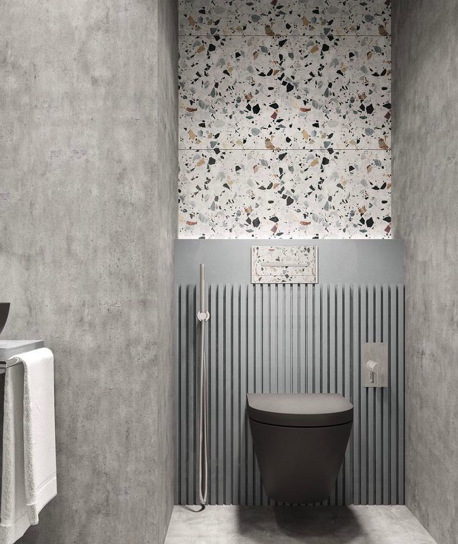 Texture Walls Design Bathroom Makeover With Terrazzo Walls Terrazzo Terrazzo Wall