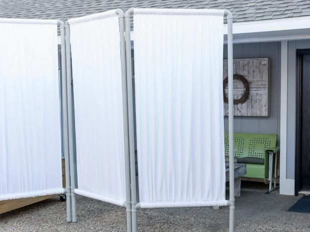 Can't hang curtains from your deck or patio? Get the look