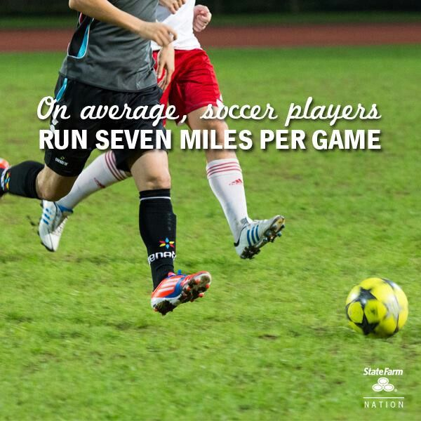 how much miles do you run in a soccer game