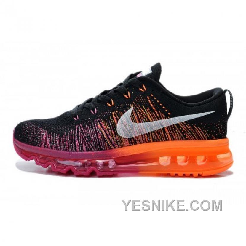 innovative design b846d a036f Nike Air Max 2014 Flyknit Purple Black Orange Jordan Shoes, Air Jordan,  Basket Noir
