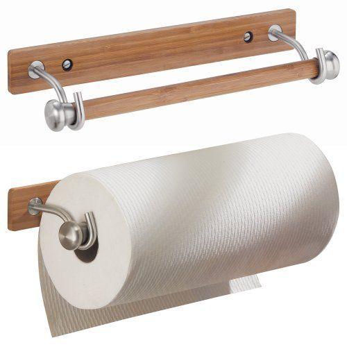 Interdesign Formbu Wallmount Paper Towel Holder Bamboo Brushed Stainless Steel By Interdesign Http Www Amazon Com Dp Kuchenrollenhalter Design Einrichtung