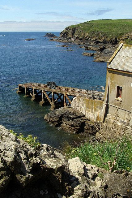 Old lifeboat station at Polpeor Cove, Lizard Point - Cornwall ...