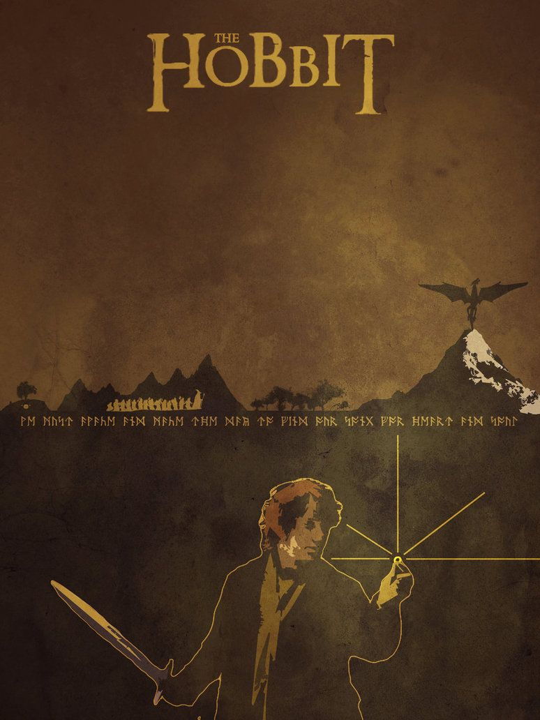 The Hobbit An Unexpected Journey 2012 Minimal Movie Poster By