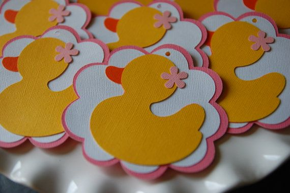 Rubber Duck Favor Tags Duck Tags Rubber Duck Baby by GiggleBees ...