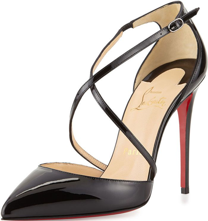 outlet manchester great sale clearance purchase Christian Louboutin Suede Crossover Pumps affordable cheap online outlet store online IM5yGi