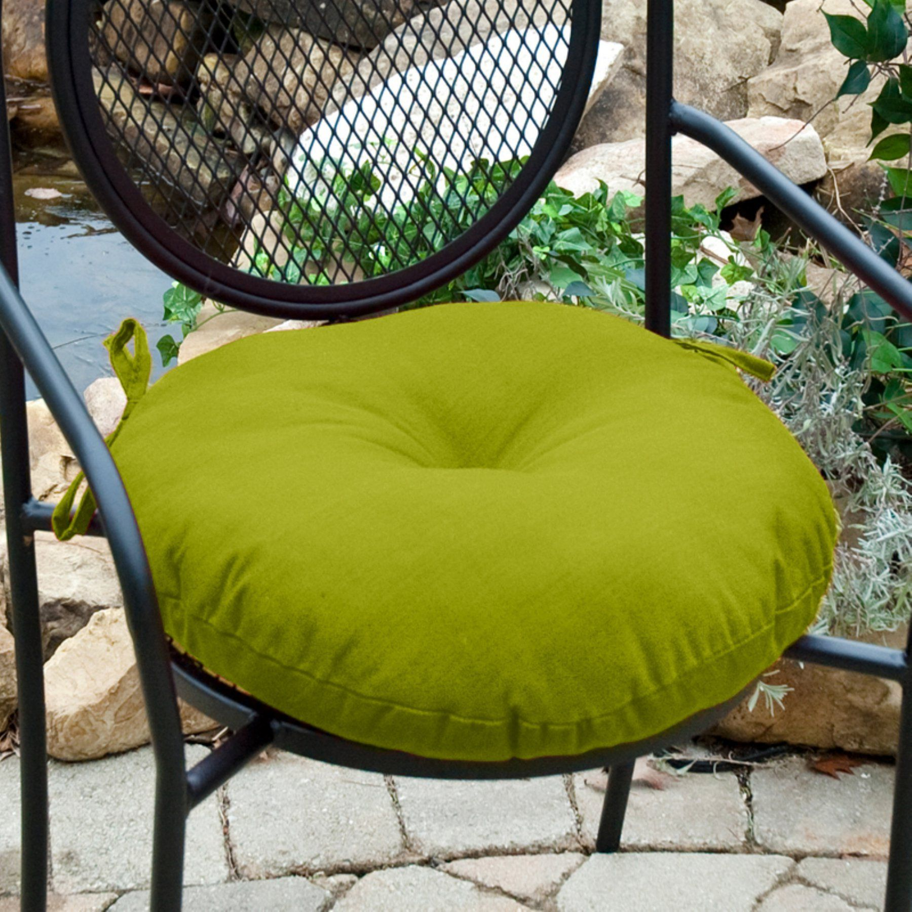 Greendale Home Fashions 18 In Round Outdoor Bistro Chair Cushion
