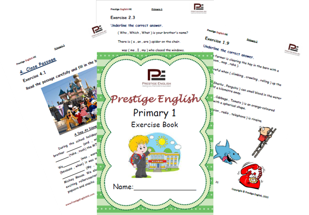 English Exercise Book – Primary 1 (ages 6 and up) | English ...