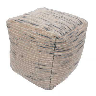 Jaipur Rugs Alma Textural Wool And Cotton Pouf Ottoman