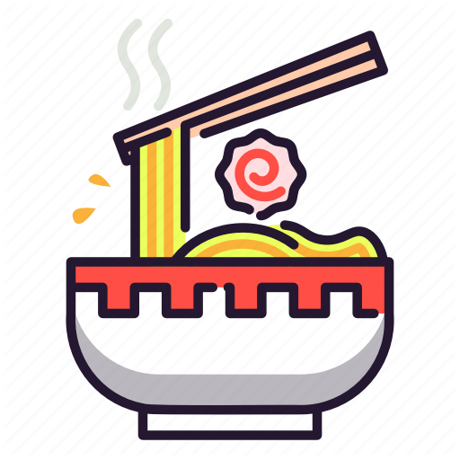 Chopstick Japan Noodle Ramen Soup Icon