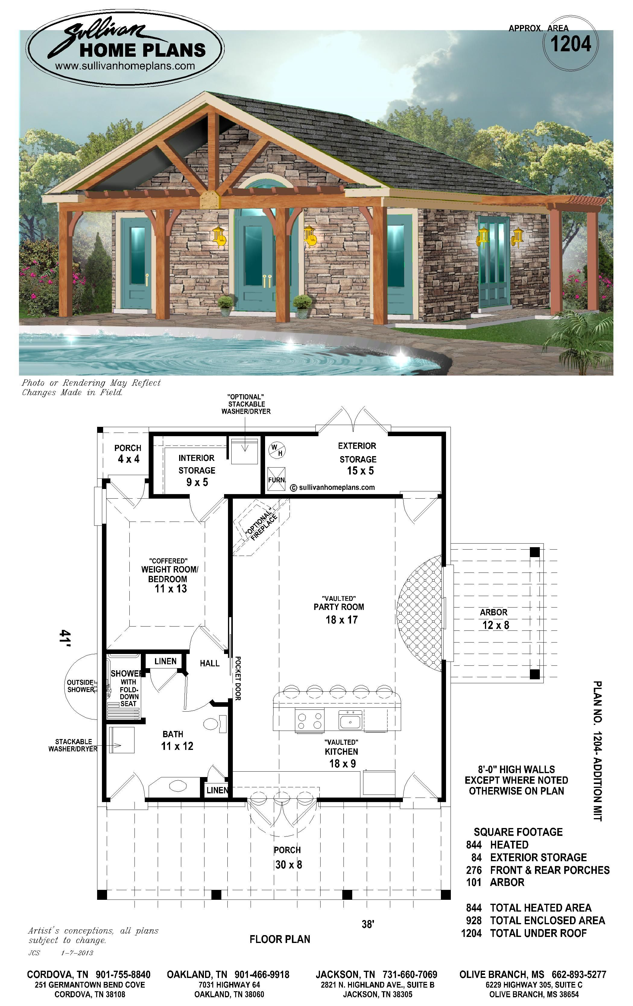 Love The Beams Would Open Up A Few Walls To The Outside Pool House Plans Pool House Designs House Plans