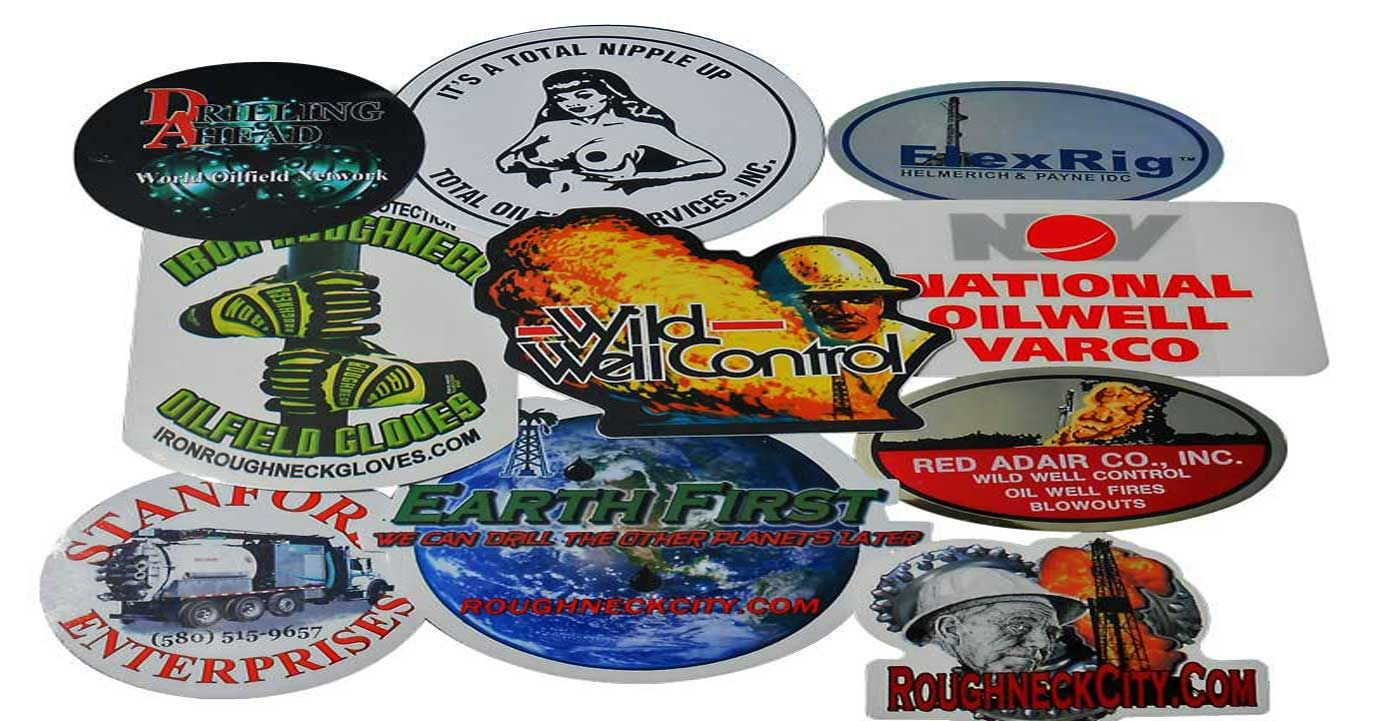 We all love collecting oilfield hard hat stickers- Roughneck