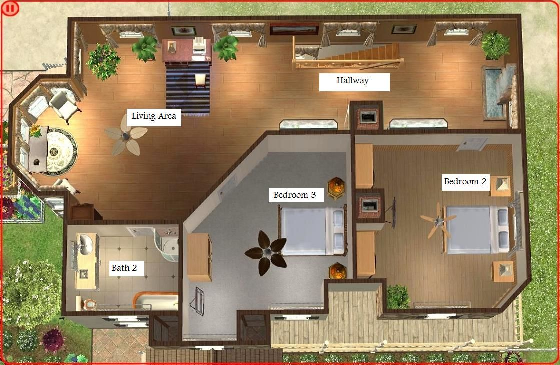 The Sims 3 Is A 2009 Strategic Life Simulation Video Game Developed By The Sims Studio And Publishe Home Design Floor Plans Beach House Design House Blueprints