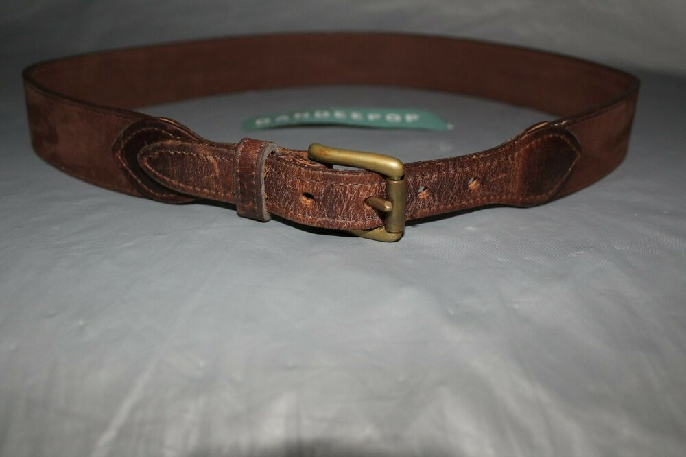 Trump Size 34 Signature Collection Synthetic Leather Brown Belt  NEW Donald J