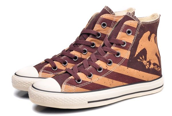 f8af54ad8bd0 Vintage Yellow Converse American Flag Eagle Stripes Fire Brick Chuck Taylor All  Star High Tops Sneakers  converse  shoes