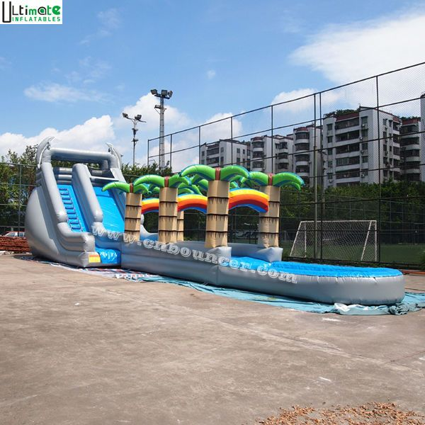 Inflatable water slide commercial grade inflatable - Commercial swimming pool water slides ...