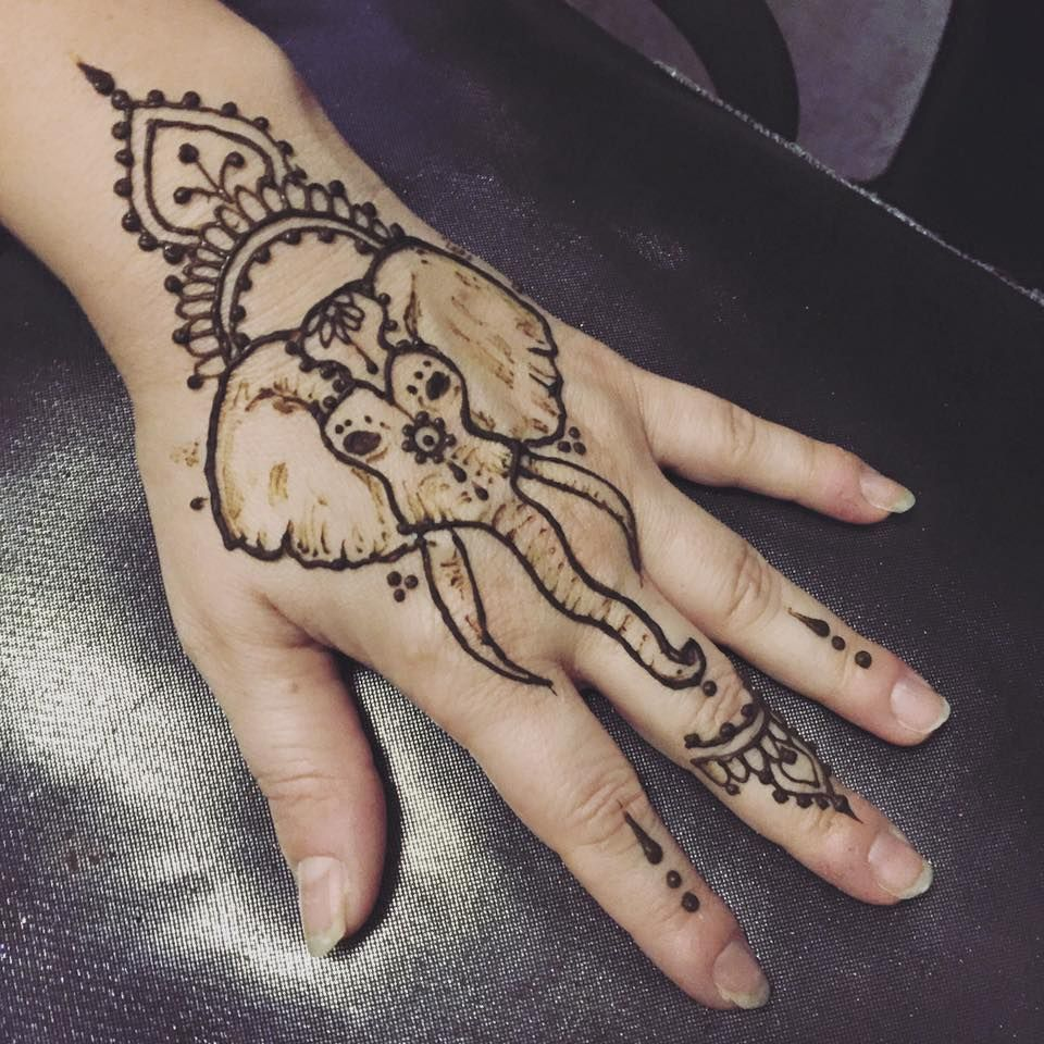 elephant henna tattoo tattoo designs hena pinterest. Black Bedroom Furniture Sets. Home Design Ideas