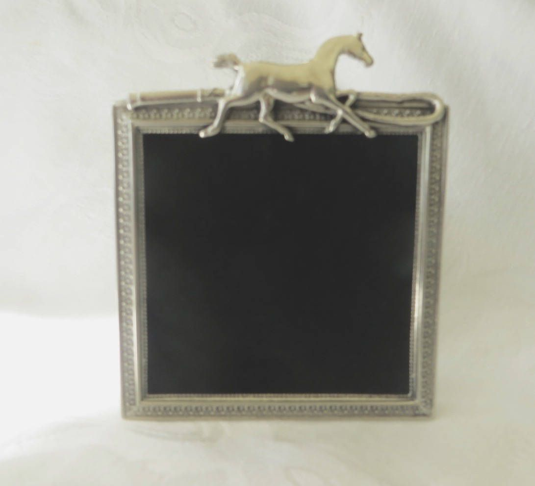 Equestrian photo frame silver picture frame galloping horse and equestrian photo frame silver picture frame galloping horse and crop elias art jeuxipadfo Gallery