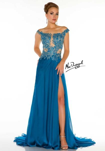 636dca83eb MacDuggal Couture Dress 61355D at Peaches Boutique